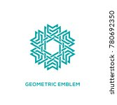 emblem template design with... | Shutterstock .eps vector #780692350