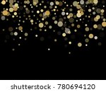 gold confetti circle decoration ... | Shutterstock .eps vector #780694120