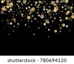 gold confetti circle decoration ... | Shutterstock .eps vector #780694120