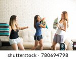 group of young female friends... | Shutterstock . vector #780694798