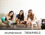group of female friends feeling ... | Shutterstock . vector #780694813