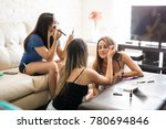 group of three female friends... | Shutterstock . vector #780694846