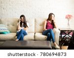 female roomates and friends... | Shutterstock . vector #780694873