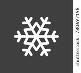 snowflake icon   simple flat...   Shutterstock .eps vector #780697198