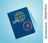 international foreign passport. ... | Shutterstock .eps vector #780697924
