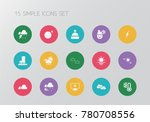 set of 15 editable climate... | Shutterstock .eps vector #780708556