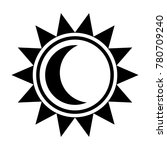 moon and sun icon. black sign...
