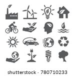 ecology and recycling icons on... | Shutterstock . vector #780710233