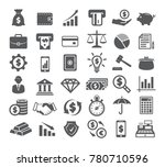 finance icons on white... | Shutterstock . vector #780710596