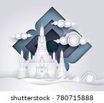 thailand amazing  thai gold... | Shutterstock .eps vector #780715888