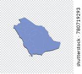 saudi arabia map   high... | Shutterstock .eps vector #780719293