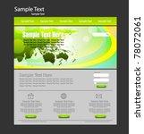 web design template | Shutterstock .eps vector #78072061