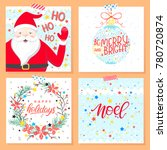 christmas and new year... | Shutterstock .eps vector #780720874