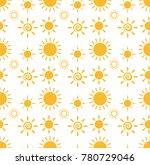 yellow sun summer pattern | Shutterstock .eps vector #780729046