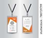 creative simple orange id card... | Shutterstock .eps vector #780729799