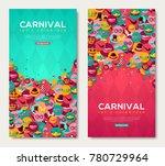carnival vertical banners set... | Shutterstock .eps vector #780729964