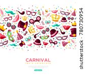 carnival concept banner with... | Shutterstock .eps vector #780730954