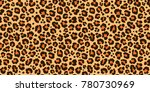 Stock vector leopard pattern texture repeating seamless orange black 780730969