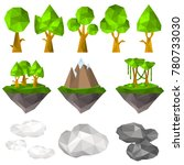 nature elements in polygon... | Shutterstock .eps vector #780733030