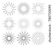 sunbursts set vector. sunbursts ... | Shutterstock .eps vector #780733090