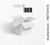 open box  grey cardboard on... | Shutterstock .eps vector #780734470
