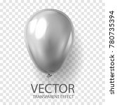 realistic 3d render grey silver ... | Shutterstock .eps vector #780735394