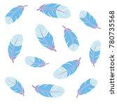 plumelets blue flying | Shutterstock .eps vector #780735568
