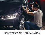 car detailing   hands with... | Shutterstock . vector #780736369