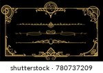 decor for documents. golden on... | Shutterstock .eps vector #780737209