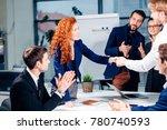 business handshake. business...   Shutterstock . vector #780740593