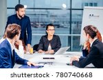 team leader and business owner... | Shutterstock . vector #780740668