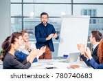 businessman presenting to... | Shutterstock . vector #780740683