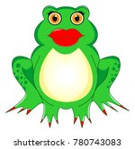 frog woman with kiss mouth  red ... | Shutterstock .eps vector #780743083