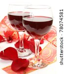 wine and roses | Shutterstock . vector #78074581