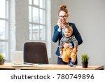 young multitasking businessmam... | Shutterstock . vector #780749896