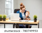 young multitasking businessmam... | Shutterstock . vector #780749953