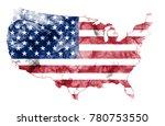 united states of america smoke... | Shutterstock . vector #780753550