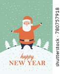 a winter holidays greeting card ...   Shutterstock .eps vector #780757918