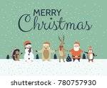 winter holidays greeting card ... | Shutterstock .eps vector #780757930