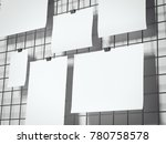 paper sheets hanging on the... | Shutterstock . vector #780758578