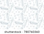 seamless pattern hand drawn... | Shutterstock .eps vector #780760360