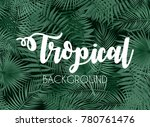 colorful naturalistic tropical... | Shutterstock .eps vector #780761476