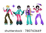 soul party time. dancers of... | Shutterstock .eps vector #780763669