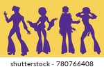 soul party time. dancers of... | Shutterstock .eps vector #780766408