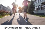 group of young sporty people... | Shutterstock . vector #780769816