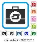 dash business case icon. flat...   Shutterstock .eps vector #780771010