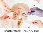 eyelash extension procedure.... | Shutterstock . vector #780772150