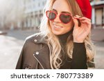 charming friendly woman with... | Shutterstock . vector #780773389