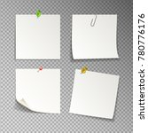 paper set of isolated white... | Shutterstock .eps vector #780776176