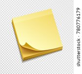 isolated yellow sticky note... | Shutterstock .eps vector #780776179